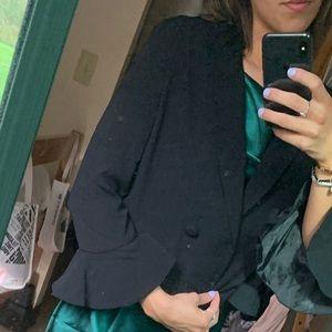 Topshop Cropped Black Blazer